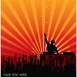 Royalty-Free Stock Imagen vectorial: DJ Concert
