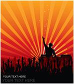 DJ Concert — Stock Vector
