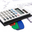 Diagram and calculator — Stock Photo #1104110