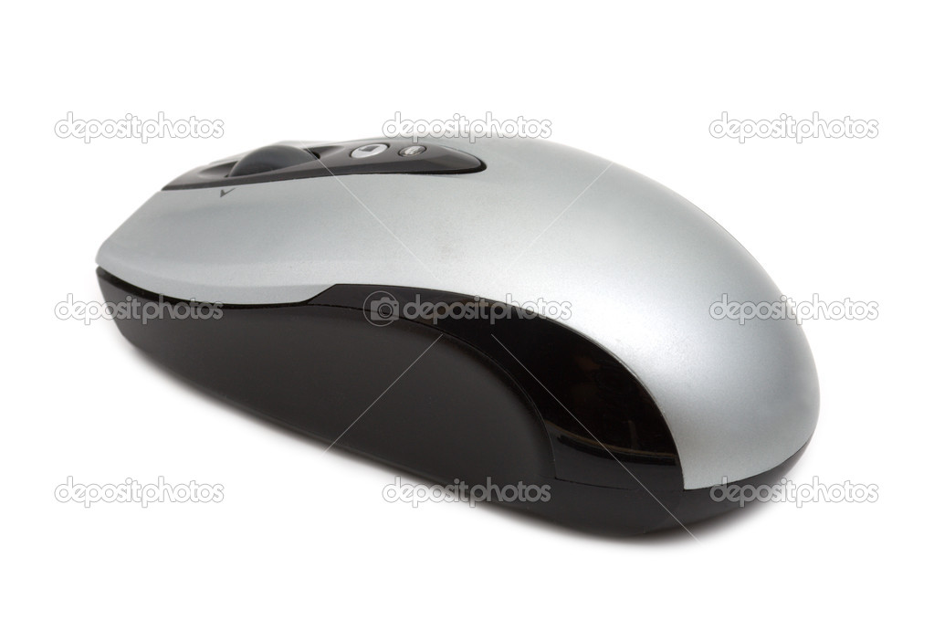 Wireles optical computer mouse on a white background — Photo #1105673
