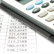 Calculator and data - Stock Photo