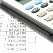 Calculator and data — Stock Photo #1158946