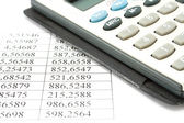 Calculator and data — Stock Photo