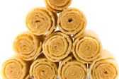 Crackling wafers-tubules — Stock Photo