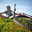 Mountain biker. - Stock Photo