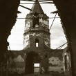 Destroyed old church — Stock Photo