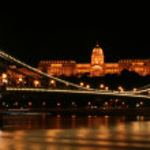 Chain bridge in Budapest — Stock Photo