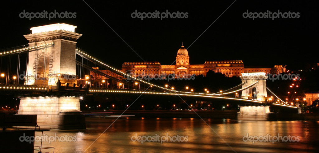 Chain bridge in Budapest  Stock Photo #1125185