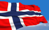Norwegian Flag. — Stock Photo
