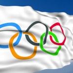 Olympic Flag. — Stock Photo #1205912