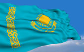 Kazakh flag. — Stock Photo