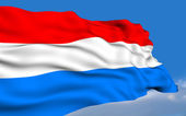 Luxembourg Flag. — Stock Photo