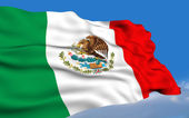 Mexican Flag. — Stock Photo