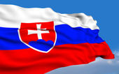 Slovak Flag. — Stock Photo