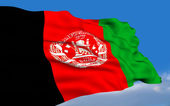 Afghan Flag. — Stock Photo