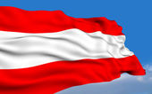 Austrian Flag. — Stock Photo