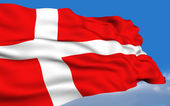 Danish Flag. — Stock Photo