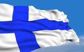Finnish Flag. — Stock Photo