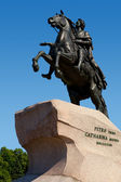 Bronze Horesman a monument to Peter I. — Stock Photo