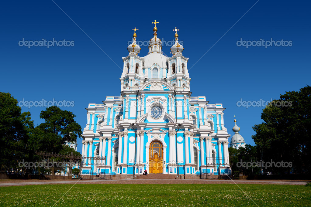 Smolny Cathedral in St Petersburg, Russia. — Stock Photo #1223497