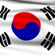 Stock Photo: South KoreFlag.