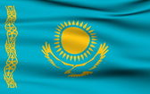 Kazakh flag — Stock Photo