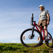 Stock Photo: Mountain biker.