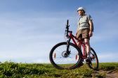 山地自行车手. — 图库照片