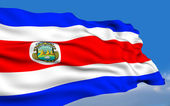 Costa Rican flag — Stock Photo