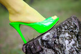 Green shoes — Stock Photo