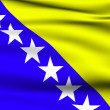 Bosnian and Herzegovinian flag — Stock Photo