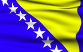 Bosnian and Herzegovinian flag — Stock Photo