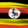 Ugandan flag — Stock Photo #1477608