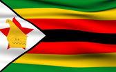 Zimbabwean flag — Stock Photo