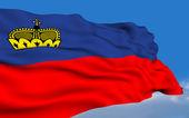Лихтенштейнский флаг — Стоковое фото