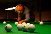 Man playing billiards. — Stock Photo