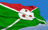 Burundian flag — Stock Photo