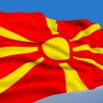 Macedonian flag — Stock Photo