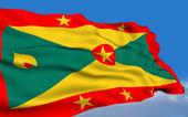 Grenadian flag — Stock Photo