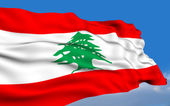Lebanese flag — Stock Photo