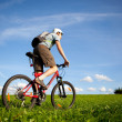 Royalty-Free Stock Photo: Mountain biker