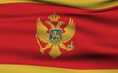 Montenegrin flag — Stock Photo