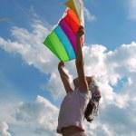Start flying kite — Stock Photo #1094875