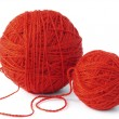 Red wool balls — Stock Photo