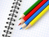Pencils and notepad — Stock Photo