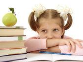 Little schoolgirl — Stock Photo