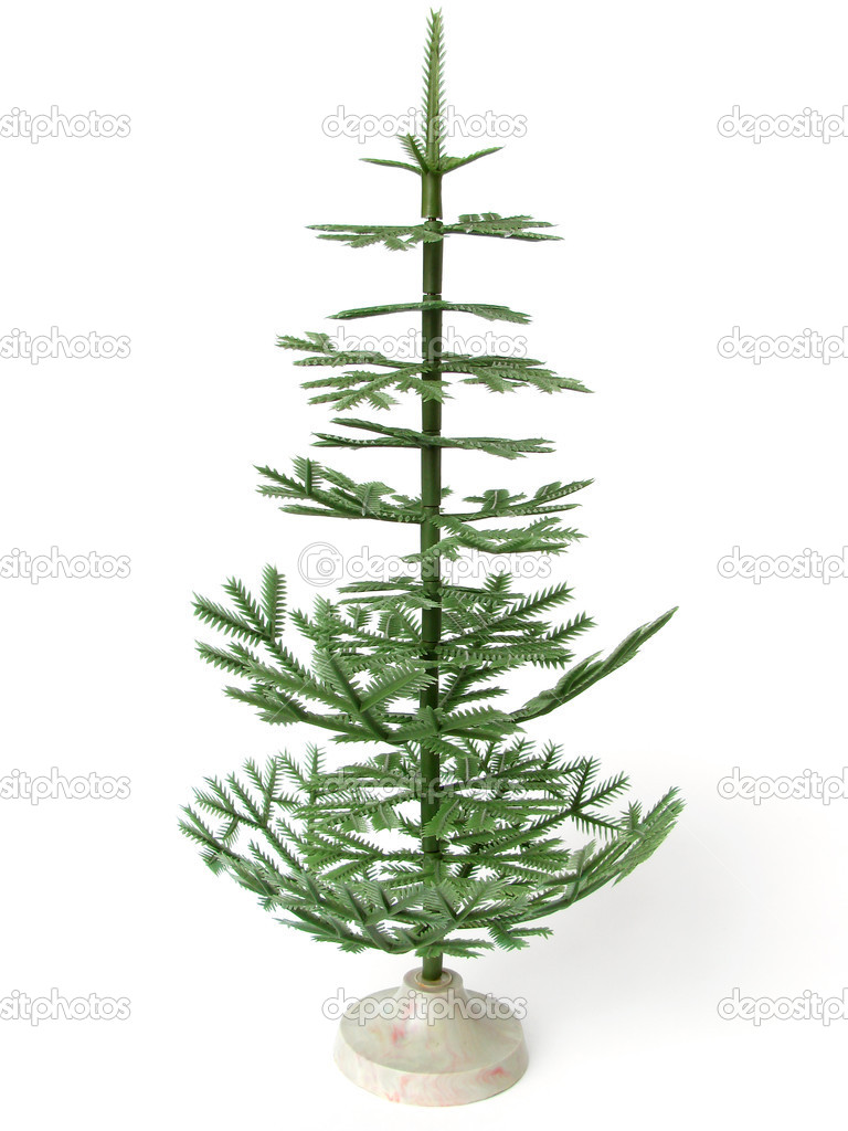 Old style artificial Christmas tree                                 Foto Stock #1101993