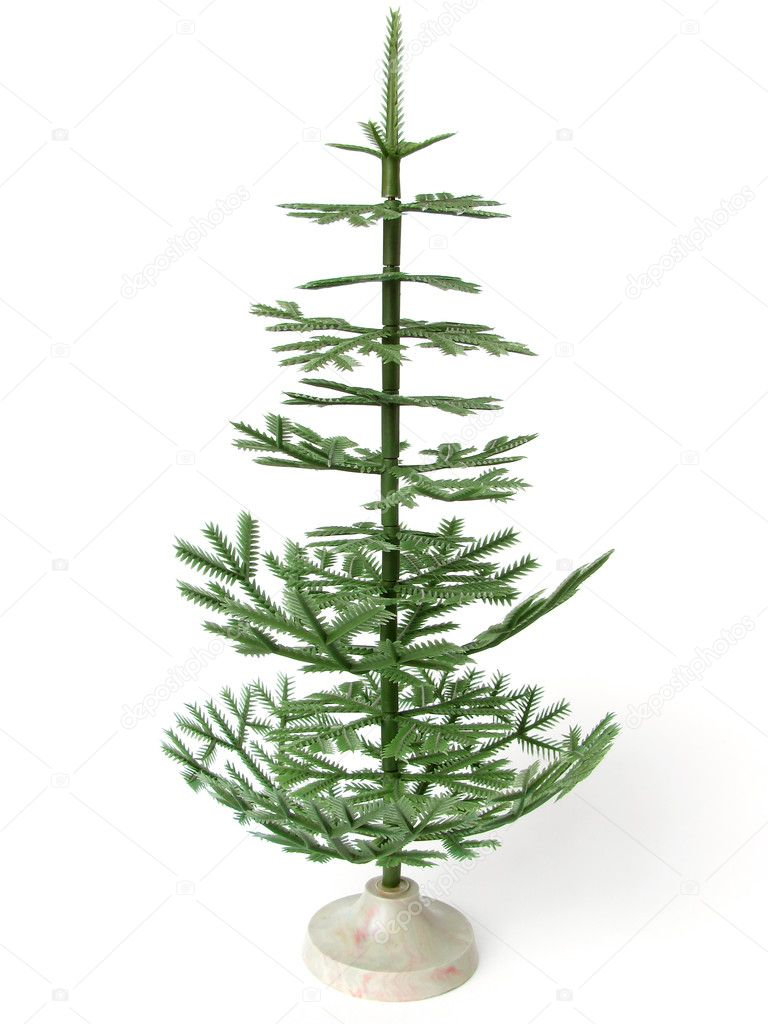Old style artificial Christmas tree                                — Stock fotografie #1101993