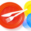 Plastic tableware — Stock Photo #1110149
