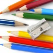 Pencils and sharpener — Stock Photo #1112376